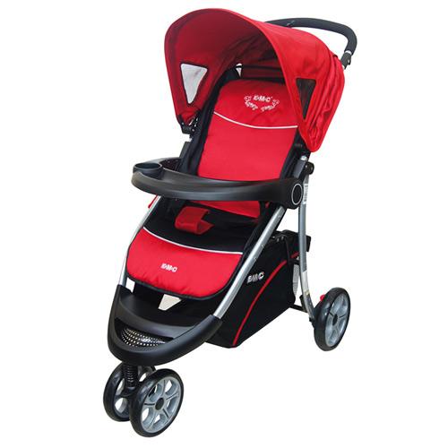 EMC 豪華三輪嬰兒推車(紅/綠)