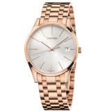 瑞士 Calvin Klein 經典耀眼玫瑰金腕錶 (K4N23646)