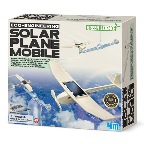 【4M】科學探索系列-日光飛行機 Solar Plane Mobile 00-03376