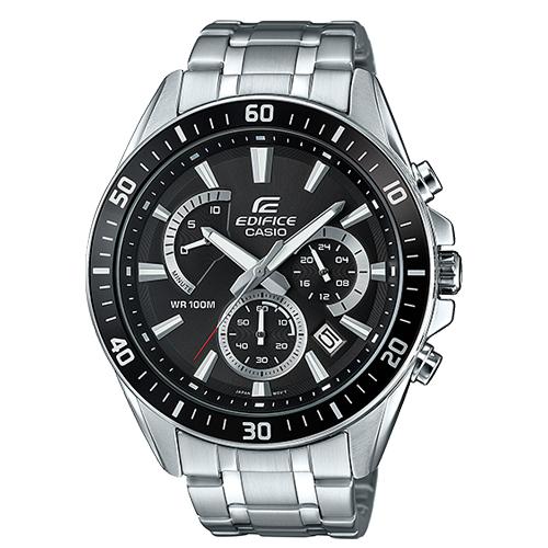 CASIO 卡西歐 EDIFICE 三眼計時石英不鏽鋼男錶 EFR-552D-1A