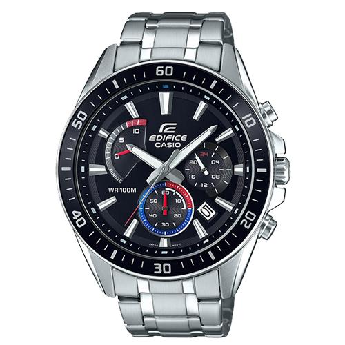 CASIO 卡西歐 EDIFICE 三眼計時石英不鏽鋼男錶 EFR-552D-1A3
