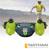 【美國 NATHAN】Trail Mix Plus 雙水壺腰包(600ml)/適補給訓練 三鐵 自行車 登山.運動.馬拉松.野跑.路跑/NA4637NDSS 珊瑚藍