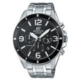 CASIO 卡西歐 EDIFICE 三眼計時石英不鏽鋼男錶 EFR-553D-1B