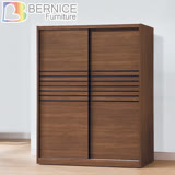Bernice-塔西5尺拉門/推門衣櫃/衣櫥