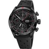 Oris豪利時 Audi Sport III 鈦限量賽車聯名計時腕錶-黑/44mm 0177476617784-Set