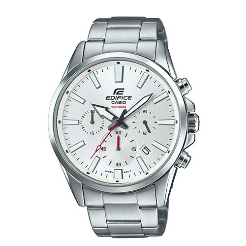 CASIO 卡西歐 EDIFICE 經典三眼時計 大錶面 不鏽鋼石英男錶 EFV-510D-7A