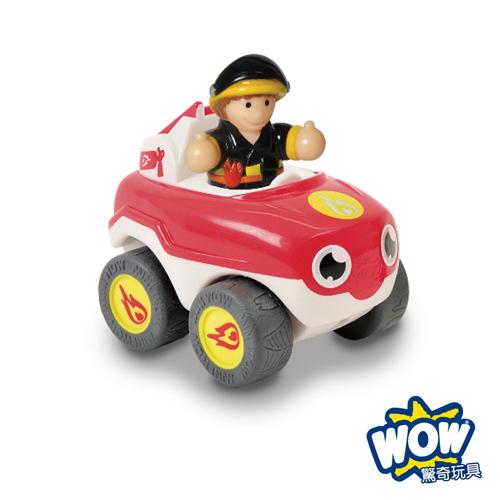 英國【WOW Toys 驚奇玩具】 隨身迷你車 - 消防車火焰