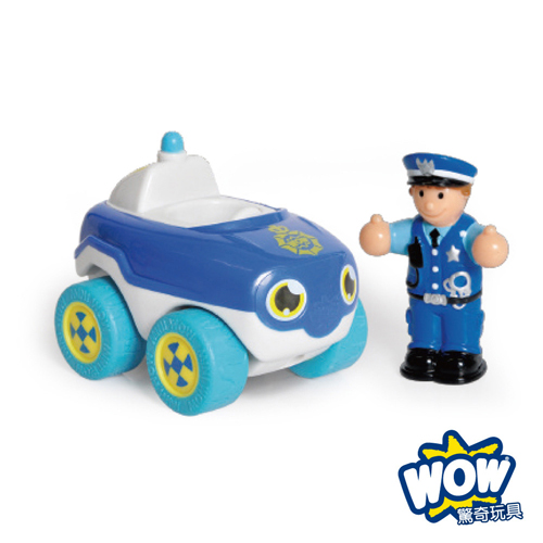 英國~WOW Toys 驚奇玩具~ 隨身迷你車 ~ 警車巴比