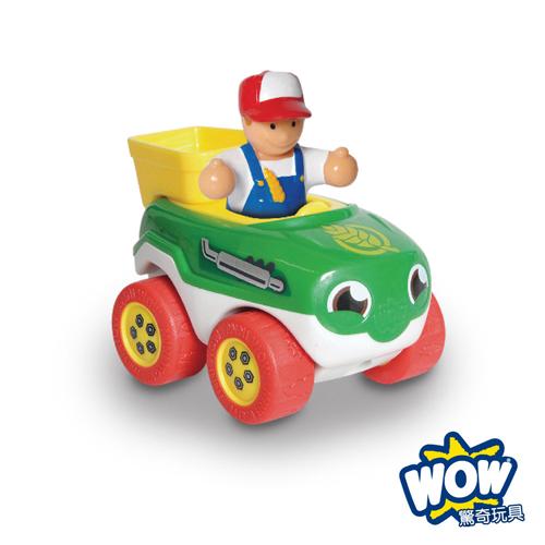 英國~WOW Toys 驚奇玩具~ 隨身迷你車 ~ 農場拖拉車崔佛