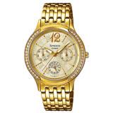 CASIO 卡西歐 SHEEN 不鏽鋼錶帶氣質女錶 SHE-3030BGD-9A