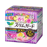 日本KAO速吸超薄碟翼衛生棉(玫瑰香)30cm-14枚