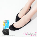 【BeautyFocus】涼感後跟凝膠隱形襪/素面款-2500黑色