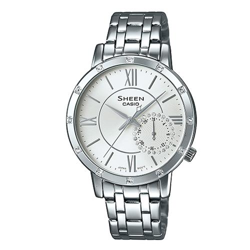 CASIO 卡西歐 SHEEN 知性名媛 施華洛世奇晶鑽 完美女錶 SHE-3046DP-7A