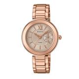 CASIO 卡西歐 SHEEN 玫瑰金不鏽鋼錶帶指針女錶 SHE-3050PG-7A