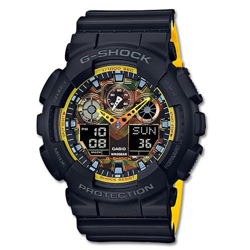CASIO 卡西歐 G-SHOCK 全新配色運動必備雙顯錶 GA-100BY-1A