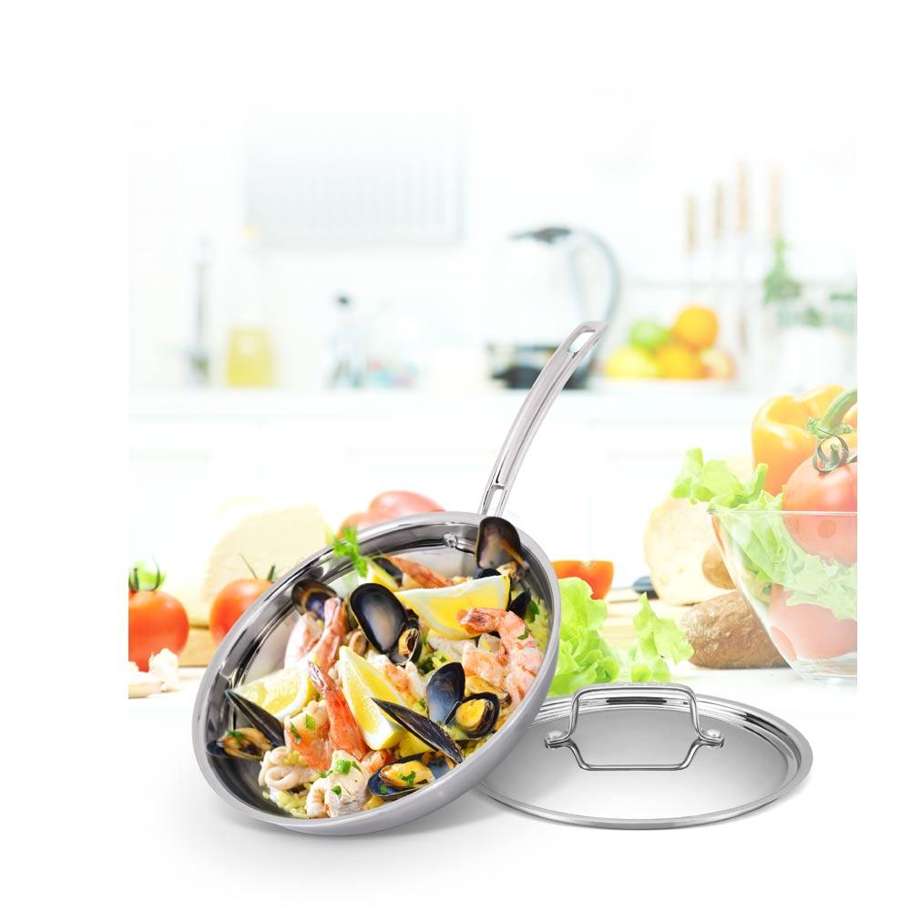 美國Cuisinart美膳雅 專業級不鏽鋼單柄煎鍋24cm (MCP22-24CNTW)