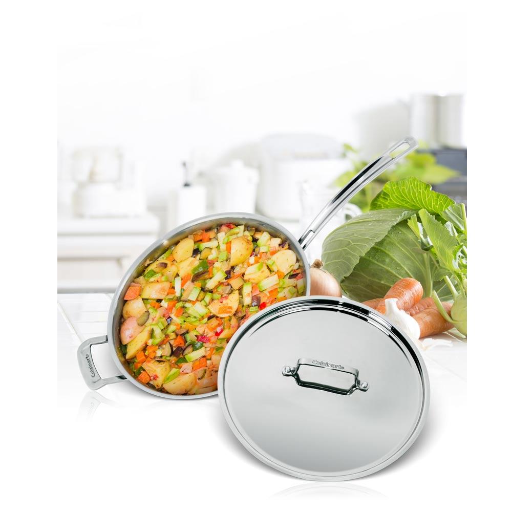 美國Cuisinart美膳雅 專業級不鏽鋼炒鍋30cm (MCP22-30HCNTW)