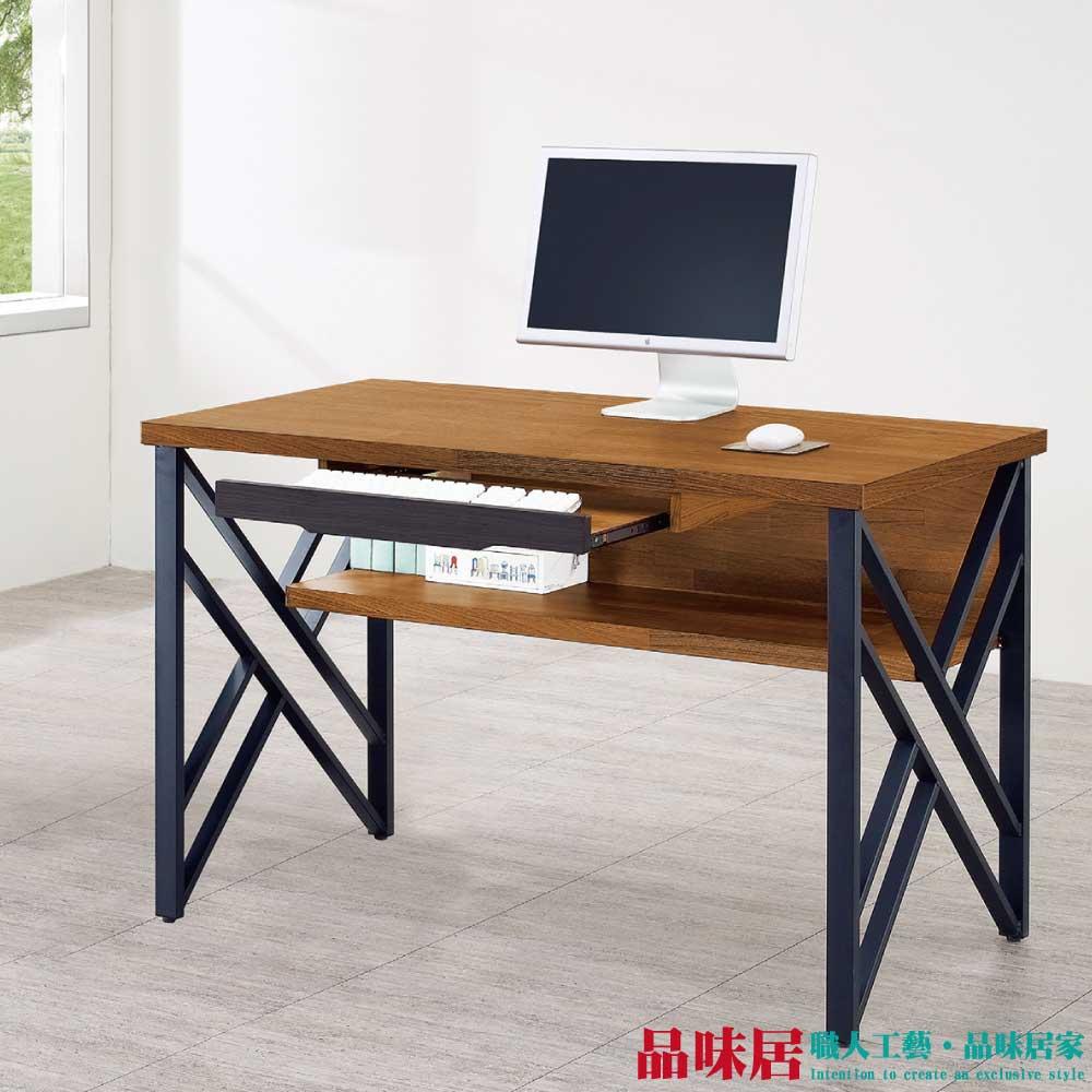 【品味居】羅尼達 時尚4.2尺木紋書桌/電腦桌
