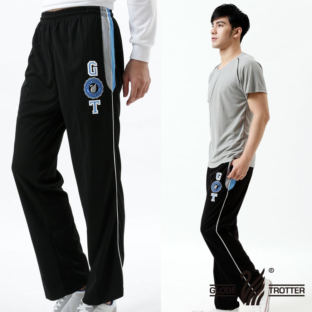 【遊遍天下】台灣製男款抗UV吸排休閒運動長褲P118黑色
