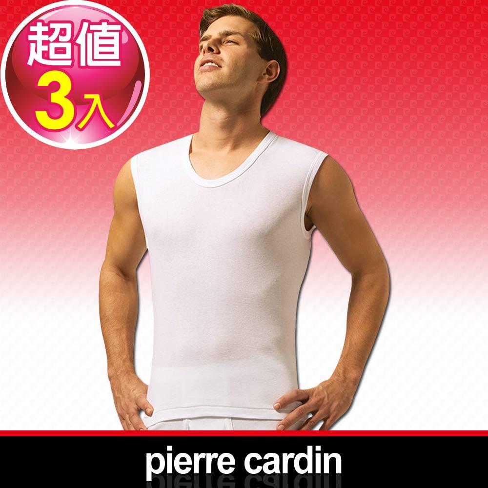 Pierre Cardin 皮爾卡登 新機能吸汗透氣無袖U領衫-台灣製造(3入組)