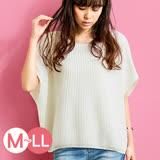日本ANNA LUNA 預購-連肩袖寬鬆羅紋針織上衣(共四色/M-LL)