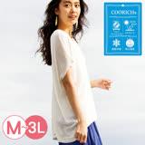 日本ANNA LUNA 預購-寬鬆舒適涼感薄針織上衣(共五色/M-LL)