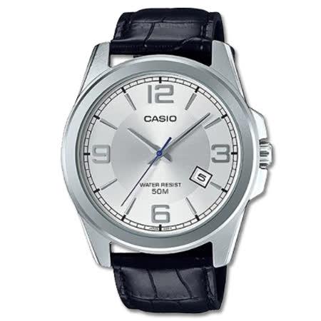 CASIO 卡西歐 簡約皮革指針男錶 MTP-E138L-7A