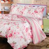 【夢工場】美麗原生 精梳棉兩用被床包組-雙人
