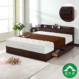【品生活】日式收納二件式房間組(收納床頭片+收納床底)