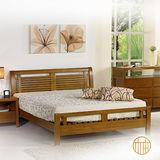 《原柚之初》柚木色比爾全實木床台3.5尺 單人加大