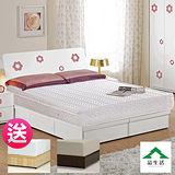 【品生活】經典雙人獨立筒床墊(2色可選)買就送床底