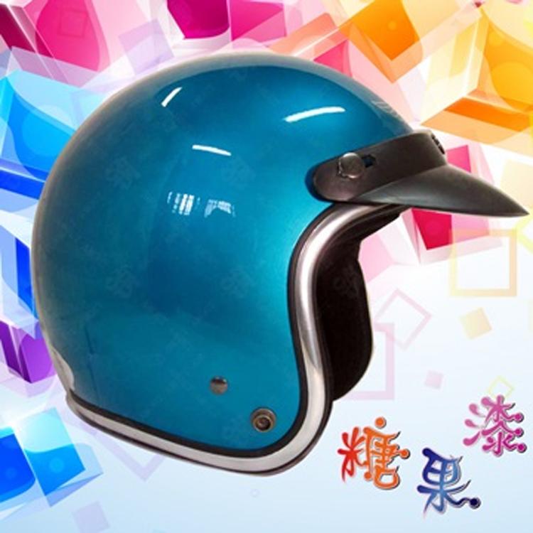 ~SY安全帽 812A 糖果漆 騎士帽~金屬糖果色系│電鍍邊條│半罩復古帽│3 4罩│內襯