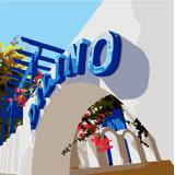 ArtLife藝術生活【DR037】希臘愛情海系列 2_DIY 數字 油畫 彩繪 20*20cm