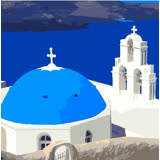 ArtLife藝術生活【DR040】希臘愛情海系列 3_DIY 數字 油畫 彩繪 20*20cm