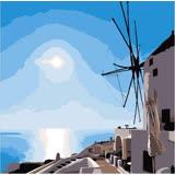 ArtLife藝術生活【DR042】希臘愛情海系列 4_DIY 數字 油畫 彩繪 20*20cm
