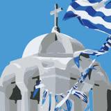 ArtLife藝術生活【DR048】希臘愛情海系列 5_DIY 數字 油畫 彩繪 20*20cm