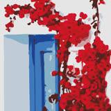 ArtLife藝術生活【DR050】希臘愛情海系列 7_DIY 數字 油畫 彩繪 20*20cm
