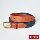 EDWIN 皮帶 江戶勝編繩皮帶-男-褐色