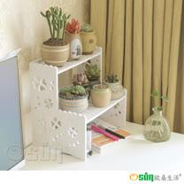 【Osun】DIY木塑板 階梯幸運草花架 (CE178-HJ007)