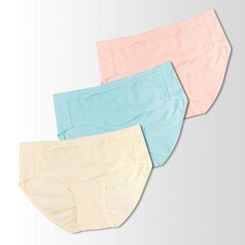 【蕾黛絲】伴你一生-精梳棉 棉褲內褲三件包(中腰)M-EEL(黃/藍/橘)