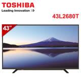 [促銷] TOSHIBA東芝 43吋Full HD LED液晶顯示器+視訊盒(43L2680T)
