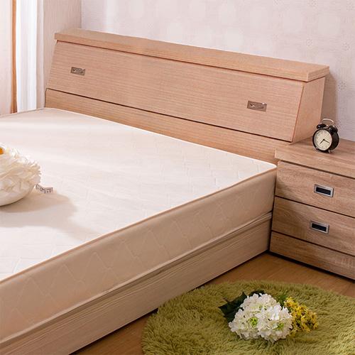 【ABOSS】麗雅6尺雙人加大白橡色收納床頭箱