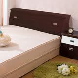 【ABOSS】麗雅6尺雙人加大胡桃色收納床頭箱