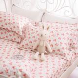 OLIVIA 《 奧莉薇 米白 》 加大雙人床包枕套三件組 鄉村田園系列 100%台灣製