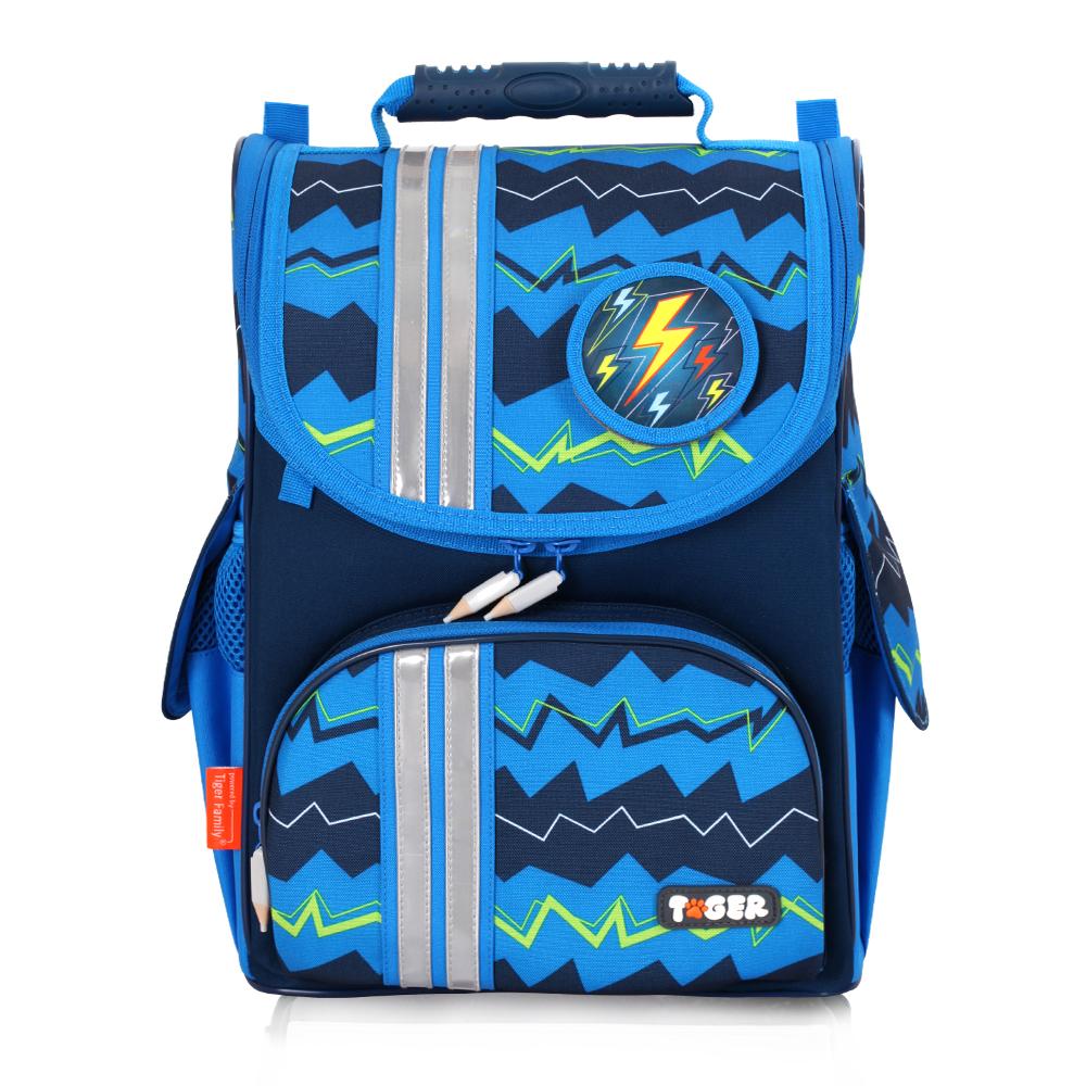 ★新品上市★TigerFamily經典小貴族超輕量護脊書包-藍色條紋 (1~2年級)