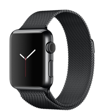 Apple WATCH MMFK2TA/A 智慧型手錶 38mm /S ,38公釐太空黑不鏽鋼錶殼 太空黑米蘭式錶環