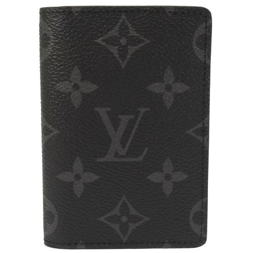 Louis Vuitton LV M61696 黑經典花紋信用卡名片短夾_現貨