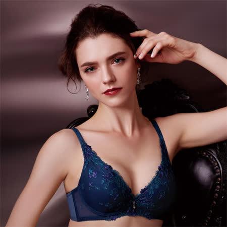 【華歌爾】伊珊露絲綺麗花園 B-C 罩杯內衣(孔雀藍)