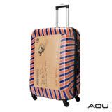 AOU 28吋 愛心公益 TSA海關鎖鏡面硬殼箱 旅行箱(郵票箱)90-032A