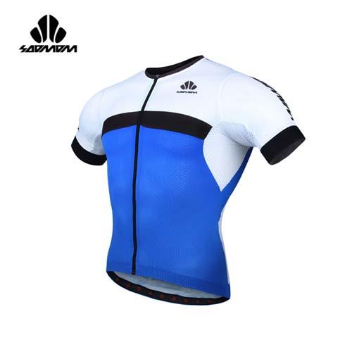 (男) SOOMOM 雷尼短車衣-單車 自行車 速盟 藍黑白
